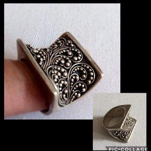 Lois Hill Sterling Silver Filigree Ring Sz 5